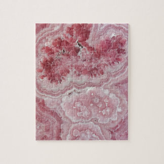Pretty Pink Crystal Geode Stone Print Jigsaw Puzzle