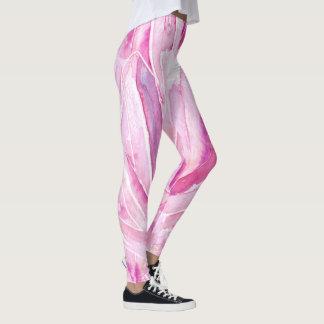 Pretty Pink Crystals Pattern Print Leggings