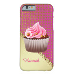 Pretty Pink Cupcake Custom 6/6s Case Barely There iPhone 6 Case
