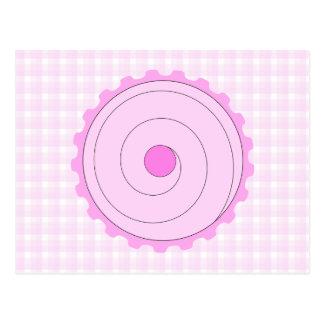 Pretty Pink Cupcake. Postcard