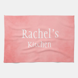 Pretty Pink Custom Name Tea Towel