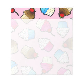 Pretty Pink Cute Cupcakes Print Notepad