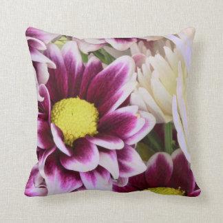 Pretty Pink Dahlia Bouquet Cushion