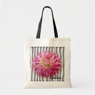 Pretty Pink Dahlia Budget Totebag Tote Bags