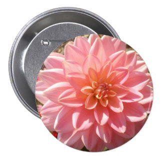 Pretty Pink Dahlia Flower 7.5 Cm Round Badge