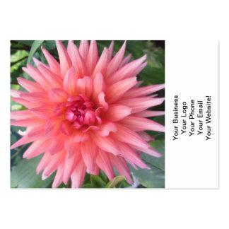 Pretty Pink Dahlia Flower Business Card Templates