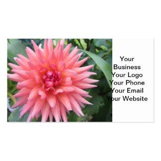 Pretty Pink Dahlia Flower Business Card