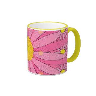 Pretty Pink Daisies Coffee Mugs