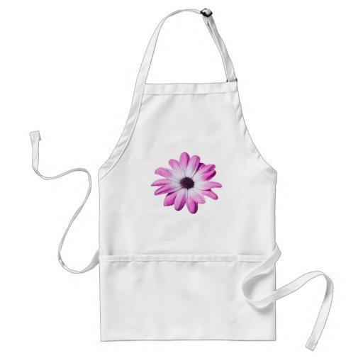 Pretty pink daisy flower apron, gift idea