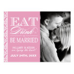 Pretty Pink Damask Save the Date