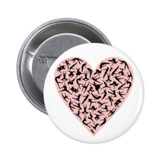 Pretty Pink Dance Heart Button