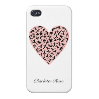 Pretty Pink Dance Heart iPhone 4 Case
