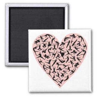 Pretty Pink Dance Heart Magnet