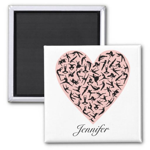 Pretty Pink Dance Heart Personalised Magnet