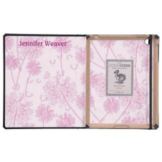 Pretty Pink Dandelion DODO iPad Case