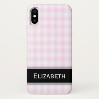 Pretty Pink Diamonds with Personalized Name iPhone X Case