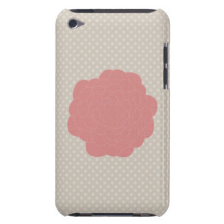 Pretty Pink Doodle Flower iPod Touch Case