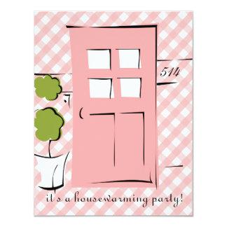 Pretty Pink Door 11 Cm X 14 Cm Invitation Card