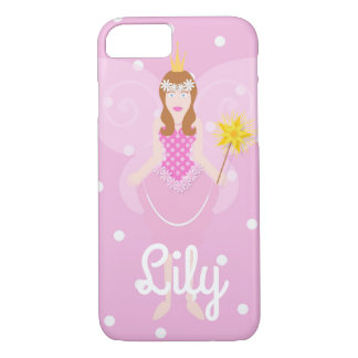 Pretty Pink Fairy Customisable iPhone 7/8 Case