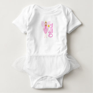 Pretty Pink Fairy Customisable Tutu Vest Baby Bodysuit