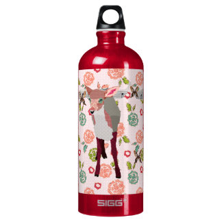 Pretty Pink Fawn Floral Liberty Bottle SIGG Traveller 1.0L Water Bottle