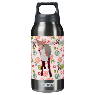 Pretty Pink Fawn Floral Liberty Bottle 10 Oz Insulated SIGG Thermos Water Bottle