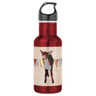 Pretty Pink Fawn  Liberty Bottle 18oz Water Bottle