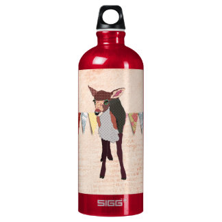 Pretty Pink Fawn  Liberty Bottle SIGG Traveller 1.0L Water Bottle