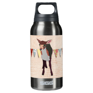 Pretty Pink Fawn  Liberty Bottle 10 Oz Insulated SIGG Thermos Water Bottle