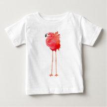 Pretty Pink Flamingo Baby Jersey Shirt