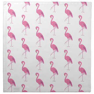 Pretty pink flamingo, fuchsia and white napkin