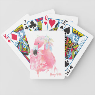 Pretty Pink Flamingo Playing Cards