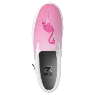 Pretty pink flamingo slip on shoes