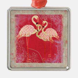 Pretty Pink Flamingos Ornament