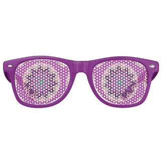 Pretty  Pink Floral Design Retro Sunglasses