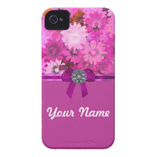 Pretty pink floral iPhone 4 Case-Mate case