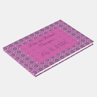 Pretty Pink Floral Pattern Guest Book