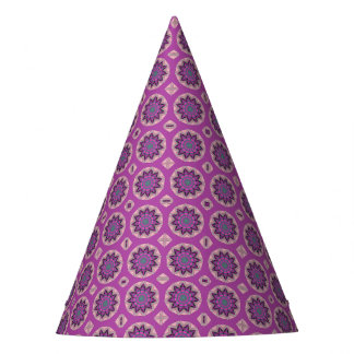 Pretty Pink Floral Pattern Party Hat