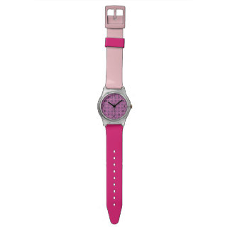 Pretty Pink floral pattern Watch