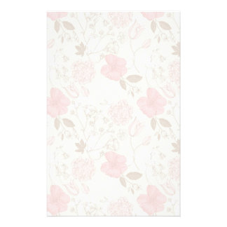 Pretty Pink Floral Stationery