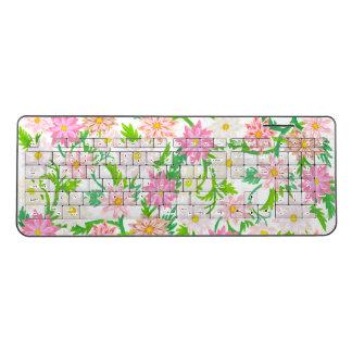 Pretty Pink Floral Wireless Keyboard