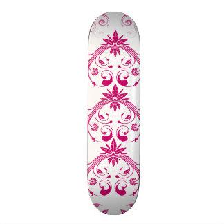 Pretty Pink Flourish Girly Elegant Floral Print Skateboard