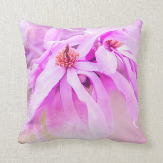 Pretty Pink Flower Blossoms Cushion