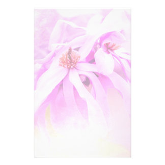 Pretty Pink Flower Blossoms Personalized Stationery