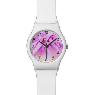 Pretty Pink Flower Blossoms Wristwatch