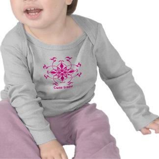 Pretty pink flower cute baby t-shirt