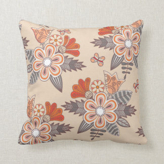 Pretty Pink Flower Floral Decorative Throw Pillow