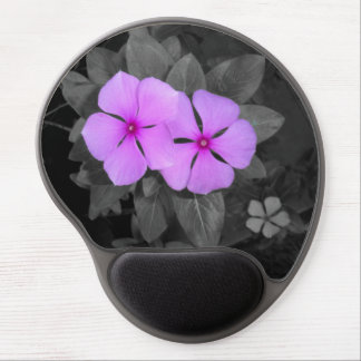 Pretty pink flower from out of the dark gel mouse pad
