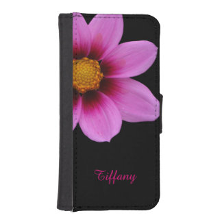 Pretty Pink Flower iPhone 5S Wallet Case