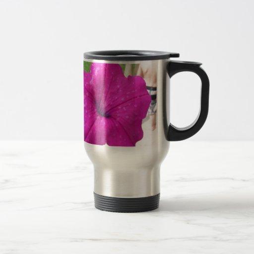 Pretty Pink Flower Mugs